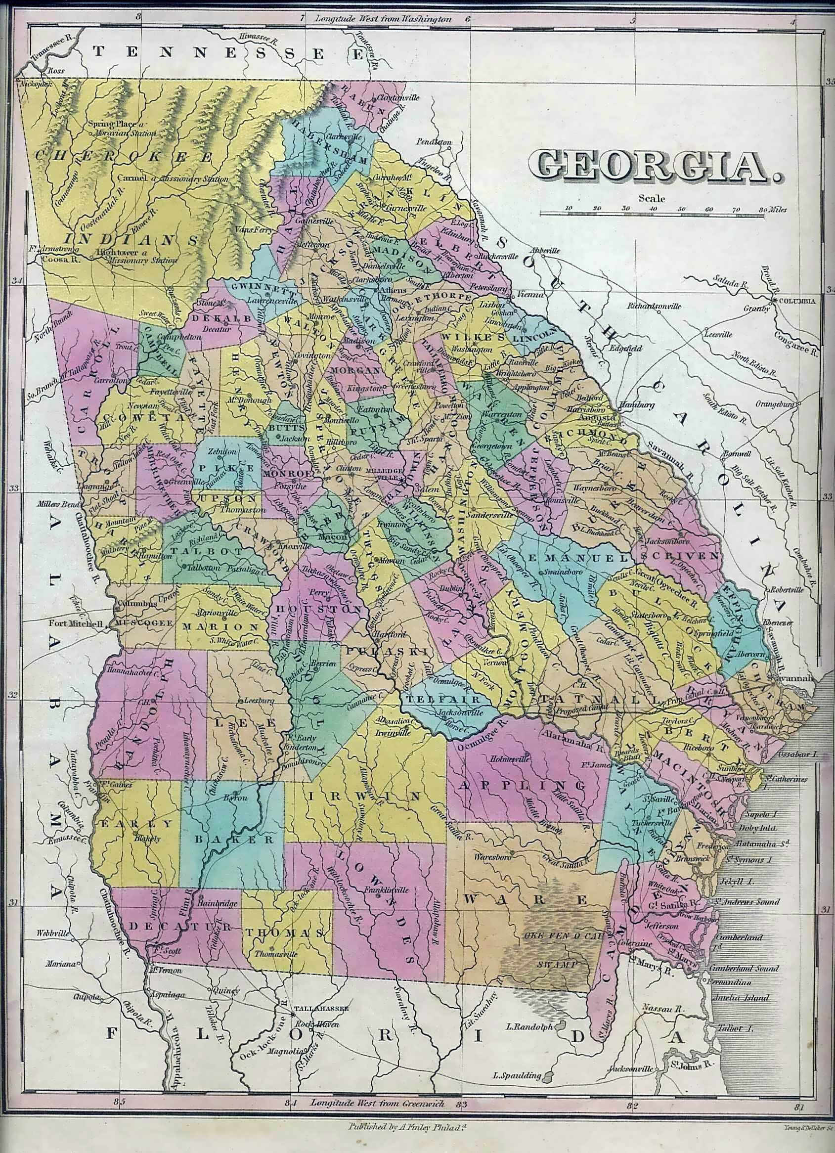 Map Of Georgia 1830.1831 Georgia
