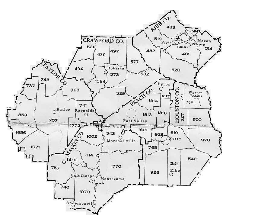 Map Of Georgia Militia Districts.Georgia General Militia Districts
